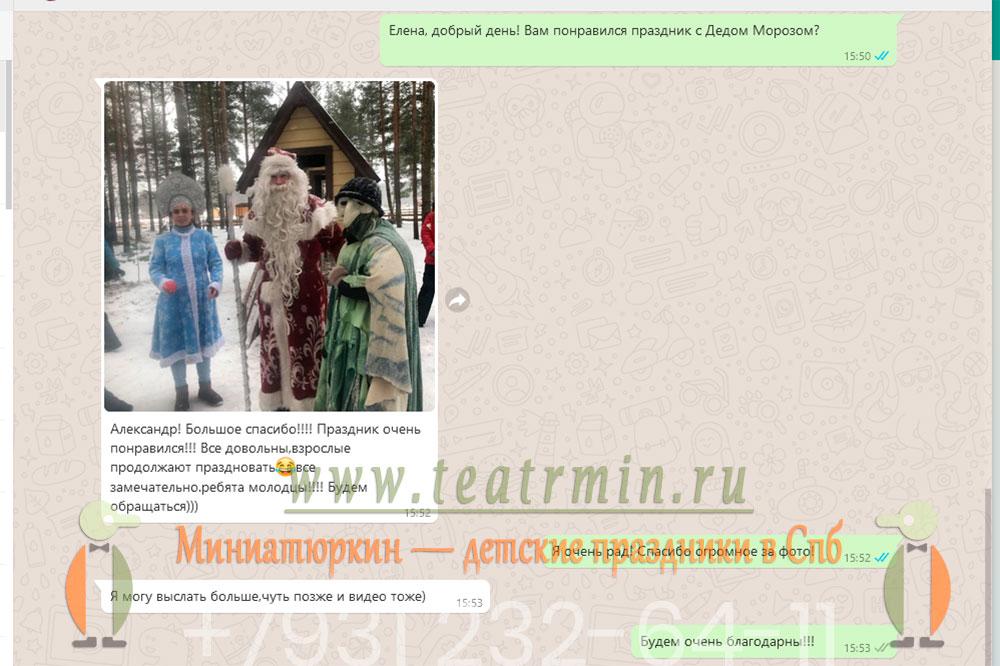 отзыв о Ёлке с Дедом Морозом, Снегурочкой и Бабой Ягой